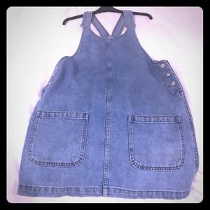 Super cute Topshop Moto jean skirt coverall